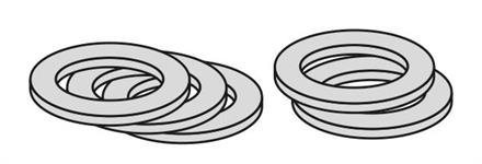 Förhöjningsbricka för duschdörr , 3mm (5 pack)