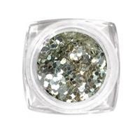 KN- Jar glitter SILVER WHITE