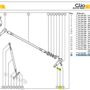 VIS FIX LEVIER CHCM8 UNBRAKO - CHS Bolt M8-40-26