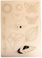 A4 Craftyboard Butterflies and Leaves