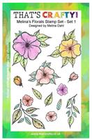 A5 clear stamp set Melina´s Florals set 1
