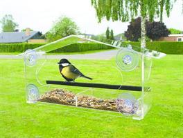 Foderautomat för fönster, Plexiglas