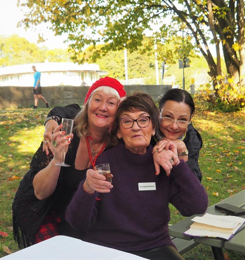 Författarna Carina Aynsley, Birgitta Andersson Backlund, Pia F Davidson