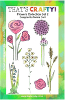 A5 Clear stamp set Flowers collection set 2