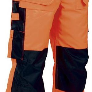 Hantverksbyxa orange/marin C152