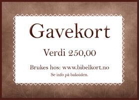 Gavekort 250,-