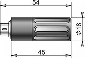 DigiL/M relative humidity & temperature probe with filter MiniDin