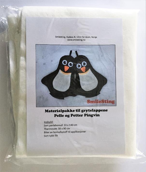 Materialpakke til Pingvingrytelapper