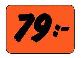 Etikett 79:- 50x30mm