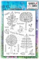 Rubber stamp set Four Seasons
