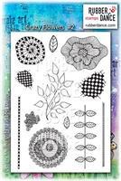 Rubber stamp set Crazy Flowers nr 2