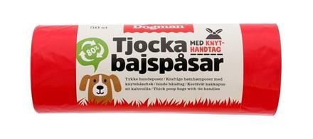 Hundpåse 50-p m handtag Röd