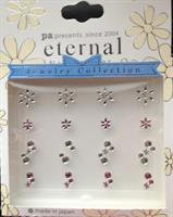 DL- Sticker Snowflake crystal & pink / Christmas