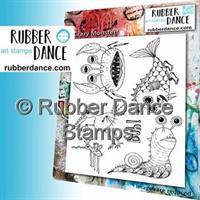 Rubber stamp set Crazy Monsters