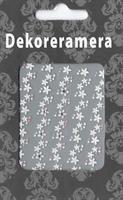 DM- Sticker Flower garland white