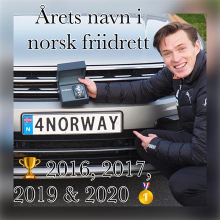 Årets navn i norsk friidrett 2020 - Karsten Warholm.