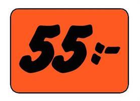Etikett 55:- 50x30mm