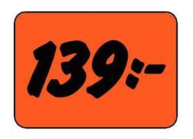 Etikett 139:- 30x20mm