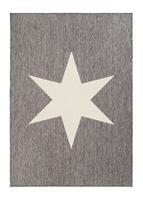 Sandhamn Star Grå/vit 160*230