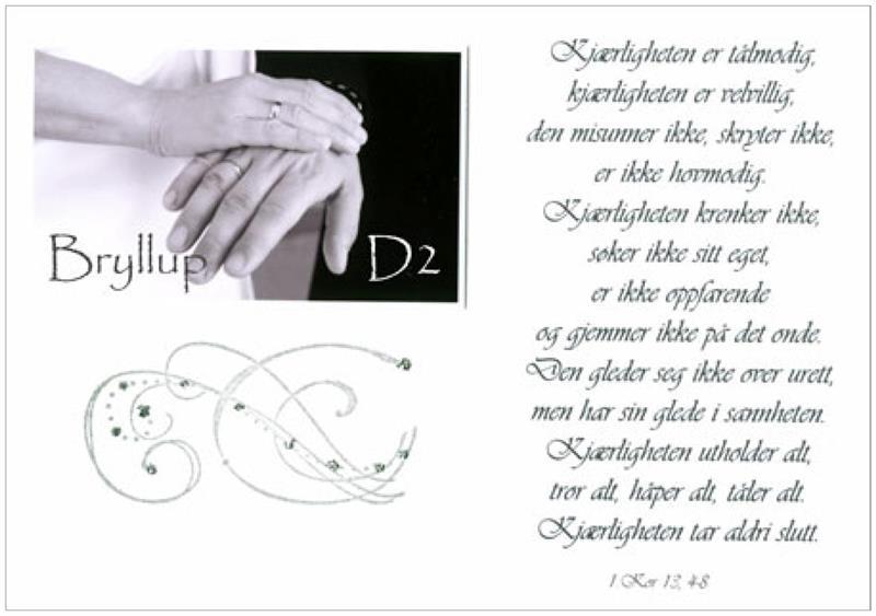 Kjærligheten er... - Håndlaget kort