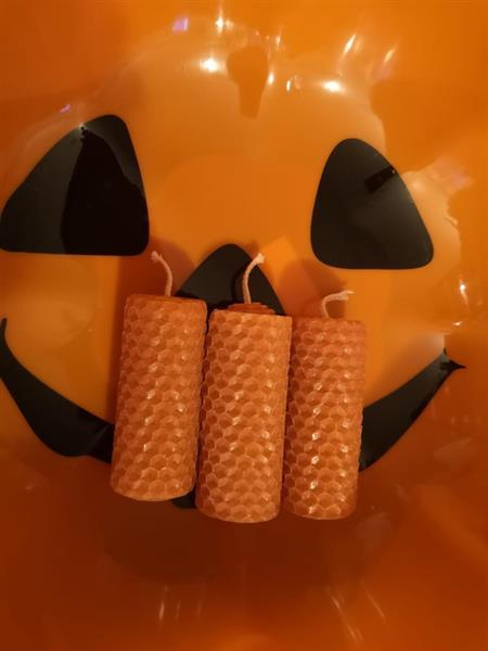 Oranssit kynttilät3 kpl setti