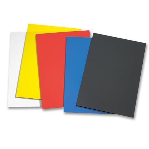 Polystyren plastplater 50 stk ass farger 1,5 mm