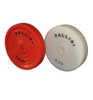 Pallini DP025 trening skive teknikk plast 2,5 kg r