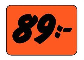 Etikett 89:- 50x30mm