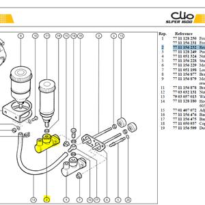 """MAITRE-CYL.7/8 AR - Rear brake M/Cyl (7/8"""")"""