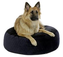 Hundbädd Puff 80x25cm Svart/Blå