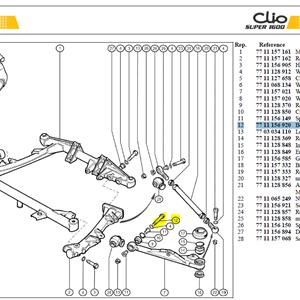 VIS HM12X175 FIX TRIANGLE PT - Bolt-Wishbone mounting Pt A