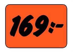 Etikett 169:- 50x30mm