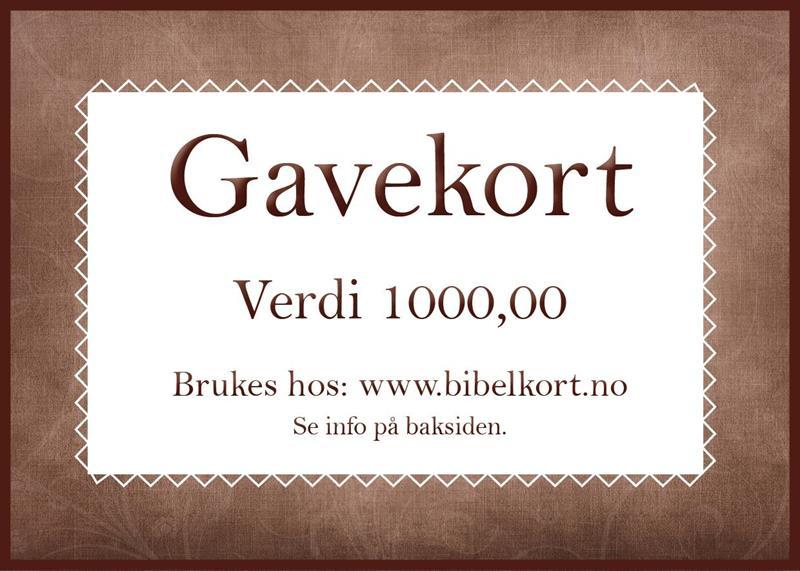 Gavekort 1000,-