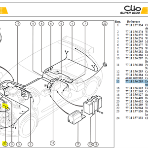 CABLE SOLENOID - Extension cable-Solenoid/Engine wiring loom