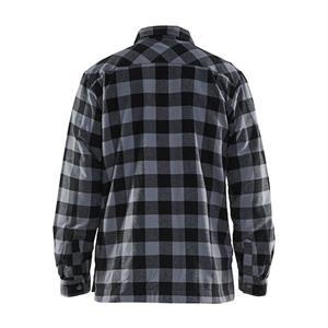 Fodrad flanellskjorta Antracitgrå/Svart 3225