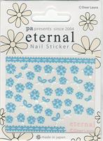 DL- PA Sticker Blue Flowers