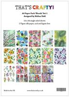 A4 Paper pack Florals set 1