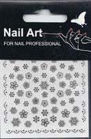 NA- Sticker Flower black & white holo