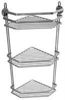 Hörnhylla med 3 plan  (trådhylla) med Limbrickor