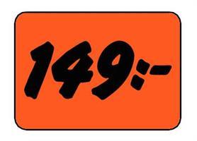 Etikett 149:- 30x20mm