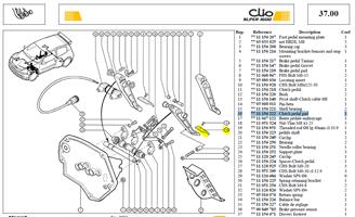 PATIN PEDA EMB - Clutch pedal pad