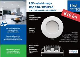 LED ALASVALO IP44 VALKOINEN