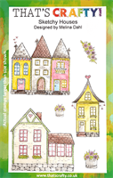 A5 Clear stamp set Sketchy Houses