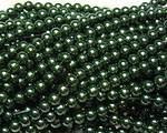 Vaxade glaspärlor grön