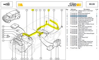 CABLAGE ARRIER - Wiring loom-Rear