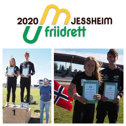 UM 2020: Prisvinnere Henriette Jæger, Aremark IF og Fredrik Haavardtun Gullachsen, IL Norna-Salhus.