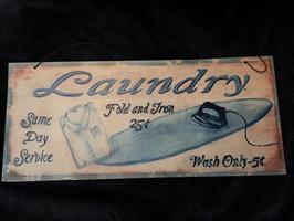 Laundry, peltikyltti