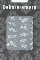 DM- Sticker Flower white rose