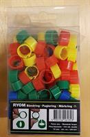 Hönsringar Mix 12mm 100st