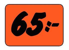 Etikett 65:- 50x30mm